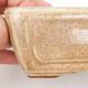 Ceramic bonsai bowl 2nd quality - 13 x 9 x 4,5 cm, color beige - 2/4