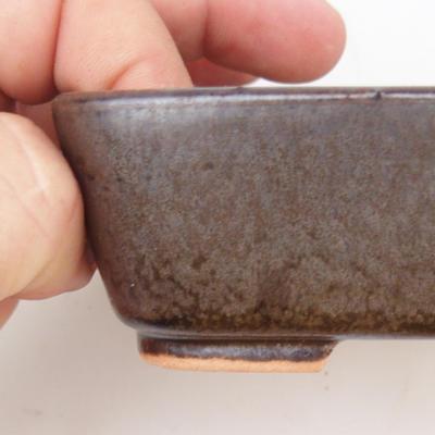 Ceramic bonsai bowl 2nd quality - 12 x 10 x 4 cm, brown color - 2