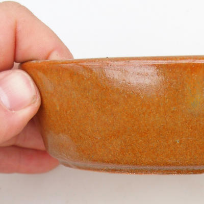 Ceramic bonsai bowl 2nd quality - 15 x 9 x 4 cm, brown color - 2