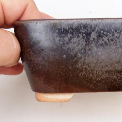 Ceramic bonsai bowl 2nd quality - 13 x 10 x 6 cm, color brown - 2