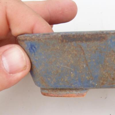 Ceramic bonsai bowl 2nd quality - 12 x 10 x 4 cm, brown-blue color - 2