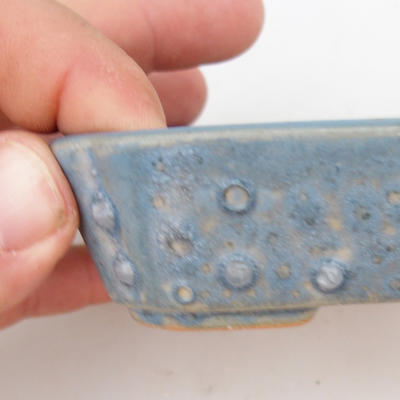 Ceramic bonsai bowl 2nd quality - 12 x 9 x 3 cm, color blue - 2