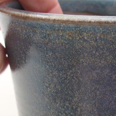 Ceramic bonsai bowl 9 x 9 x 8 cm, color blue - 2