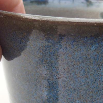 Ceramic bonsai bowl 10 x 10 x 8.5 cm, color blue - 2