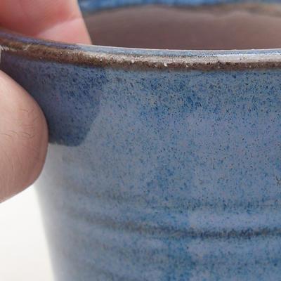 Ceramic bonsai bowl 9 x 9 x 7.5 cm, color blue - 2