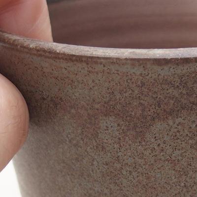 Ceramic bonsai bowl 9.5 x 9.5 x 9 cm, gray color - 2