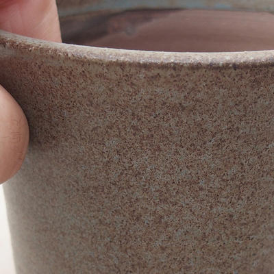 Ceramic bonsai bowl 9 x 9 x 7 cm, color gray - 2