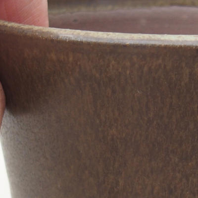 Ceramic bonsai bowl 10 x 10 x 9 cm, color brown - 2