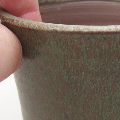 Ceramic bonsai bowl 9 x 9 x 8.5 cm, color green - 2