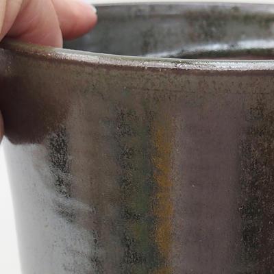Ceramic bonsai bowl 14 x 14 x 17.5 cm, color green - 2