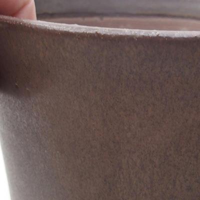 Ceramic bonsai bowl 13.5 x 13.5 x 17 cm, brown color - 2