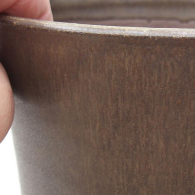 Ceramic bonsai bowl 13 x 13 x 16.5 cm, brown color - 2
