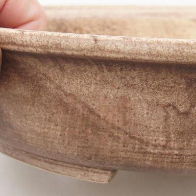 Ceramic bonsai bowl 28 x 25 x 6 cm, color brown - 2