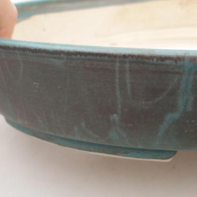 Ceramic bonsai bowl 28 x 24 x 4.5 cm, color green - 2