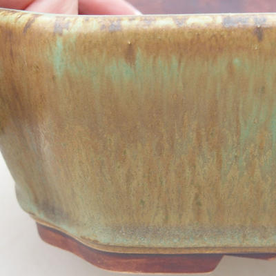 Ceramic bonsai bowl 20 x 17 x 5.5 cm, color green - 2
