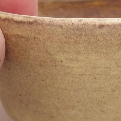 Ceramic bonsai bowl 7.5 x 6.5 x 3.5 cm, yellow color - 2