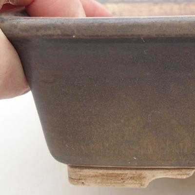 Ceramic bonsai bowl 20.5 x 16.5 x 6.5 cm, brown color - 2