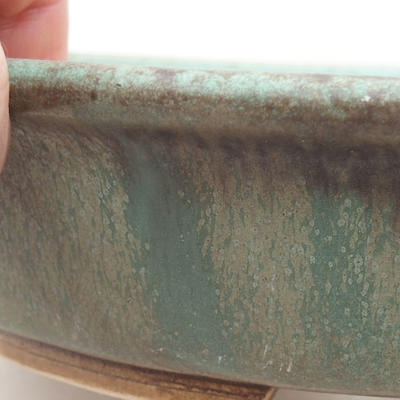 Ceramic bonsai bowl 23.5 x 21 x 5 cm, color green - 2