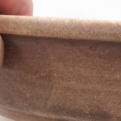 Ceramic bonsai bowl 23.5 x 21 x 5 cm, brown color - 2