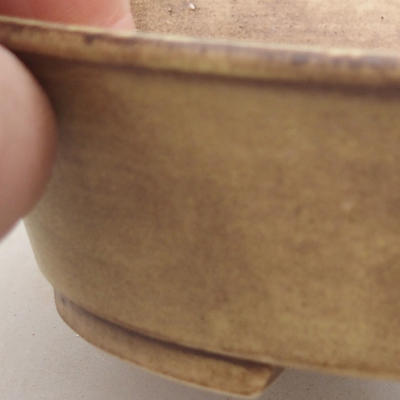 Ceramic bonsai bowl 14 x 12 x 3.5 cm, color yellow - 2