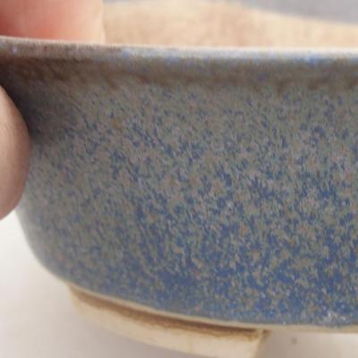 Ceramic bonsai bowl 14 x 12 x 3.5 cm, color blue - 2