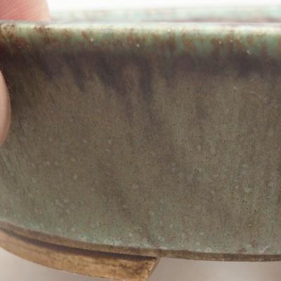 Ceramic bonsai bowl 14 x 12 x 3.5 cm, color green - 2