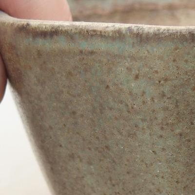 Ceramic bonsai bowl 8.5 x 8.5 x 5.5 cm, color green - 2