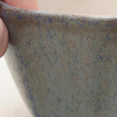 Ceramic bonsai bowl 8.5 x 8.5 x 5.5 cm, color blue - 2