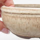 Ceramic bonsai bowl 10.5 x 10.5 x 5 cm, color beige - 2/4