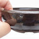 Ceramic bonsai bowl 11 x 11 x 3,5 cm, brown-green color - 2/4