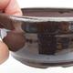 Ceramic bonsai bowl 10 x 10 x 4,5 cm, brown-green color - 2/4