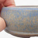 Ceramic bonsai bowl 10 x 10 x 3,5 cm, color blue - 2/4