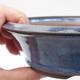Ceramic bonsai bowl 17 x 17 x 4,5 cm, color blue - 2/4