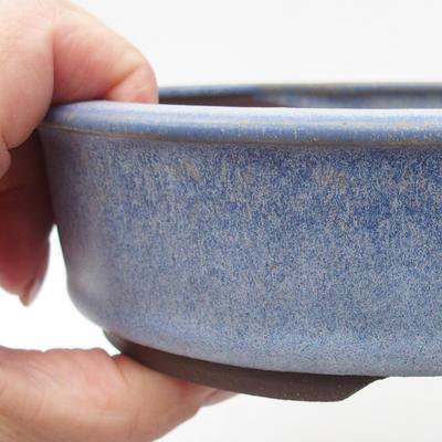 Ceramic bonsai bowl 16 x 16 x 4,5 cm, color blue - 2