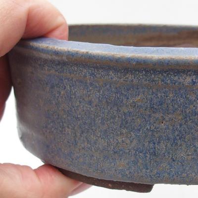 Ceramic bonsai bowl 16 x 16 x 5,5 cm, color blue - 2