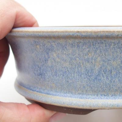 Ceramic bonsai bowl 16 x 16 x 5 cm, color blue - 2