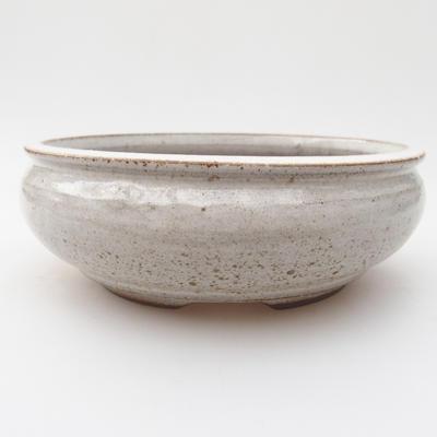 Ceramic bonsai bowl 15 x 15 x 5,5 cm, color white - 2