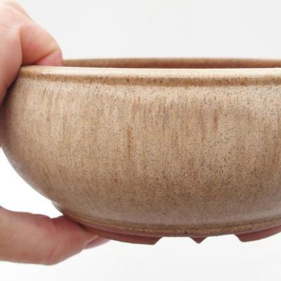 Ceramic bonsai bowl 15 x 15 x 6,5 cm, color beige - 2