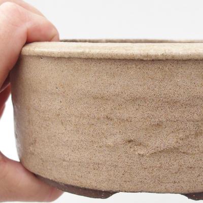 Ceramic bonsai bowl 16 x 16 x 6 cm, color beige - 2