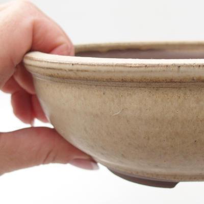 Ceramic bonsai bowl 16,5 x 16,5 x 6 cm, color beige - 2