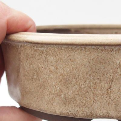Ceramic bonsai bowl 16,5 x 16,5 x 5 cm, color beige - 2