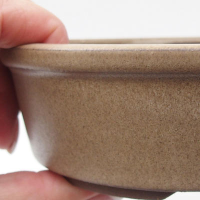 Ceramic bonsai bowl 15,5 x 15,5 x 4,5 cm, color beige - 2