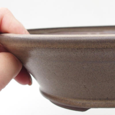 Ceramic bonsai bowl 18 x 18 x 5,5 cm, color gray - 2