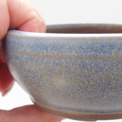 Ceramic bonsai bowl 10 x 10 x 4,5 cm, blue color - 2