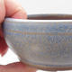 Ceramic bonsai bowl 10 x 10 x 4,5 cm, blue color - 2/4