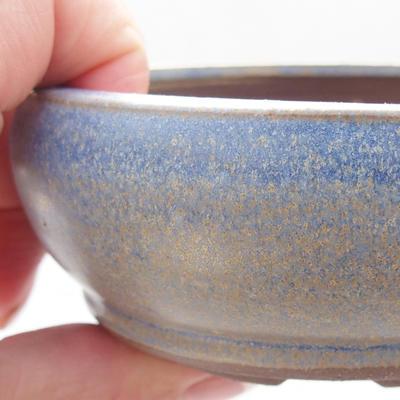 Ceramic bonsai bowl 10 x 10 x 4,5 cm, color blue - 2