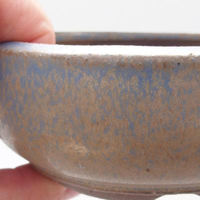 Ceramic bonsai bowl 10 x 10 x 4 cm, color blue - 2
