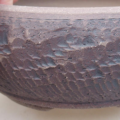 Ceramic bonsai bowl 13.5 x 13.5 x 6 cm, gray color - 2
