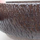 Ceramic bonsai bowl 18 x 18 x 6 cm, color brown - 2/4