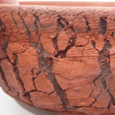 Ceramic bonsai bowl 18 x 18 x 7 cm, gray color - 2